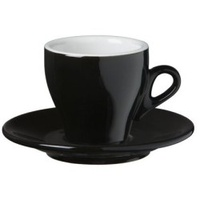 Nuova Point Milano Cappuccino Cup 155cc Black Set of 6