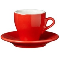 Nuova Point Milano Cappuccino Cup 155cc Red Set of 6