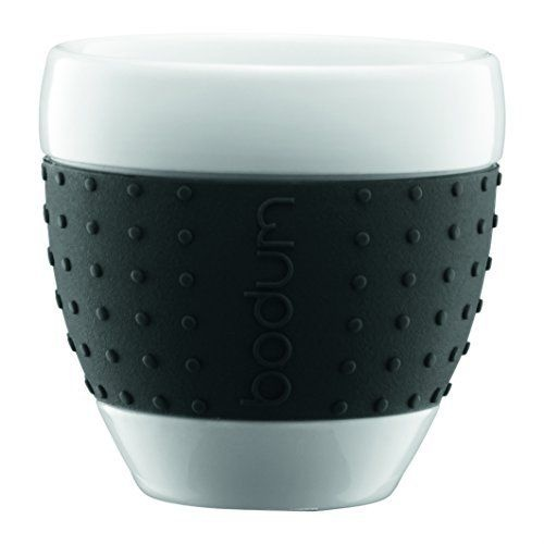 Bodum Pavina Porcelain Mugs (Set of 2) 250ml [Colour: Black]