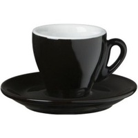 Nuova Point Milano Espresso Cup 65cc Black Set of 6