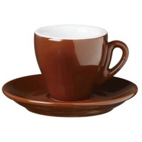 Nuova Point Milano Espresso Cup 65cc Brown Set of 6