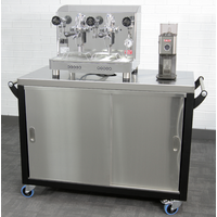 Coffee cart with machine (and optional grinder)