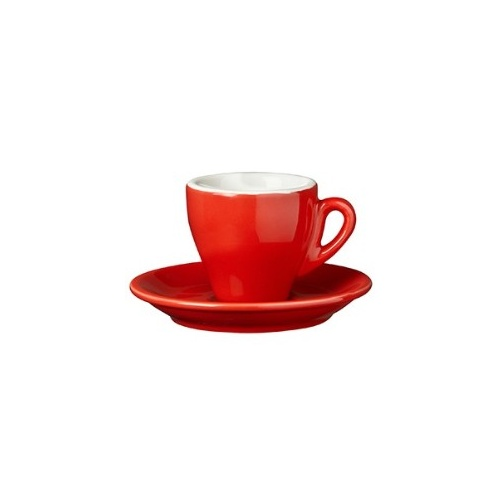 Nuova Point Milano Espresso Cup 65cc Red Set of 6